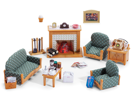deluxe living room set calico critters