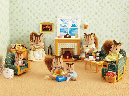 Deluxe living room set calico critters - Calico critters deluxe living room set ...